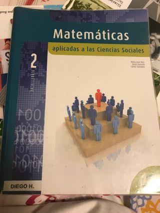 LIBRO MATEMÁTICAS 2 BACHILLERATO HUMANIDADES