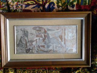 Guernica de Pablo Picasso, grabado en plata