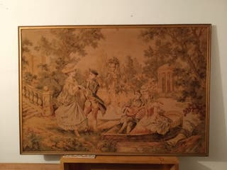 tapiz francés. Motivo Romantico
