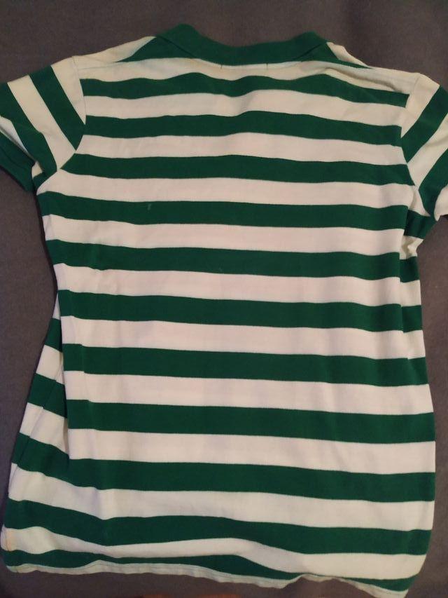 Polo USPA Blanco y Verde