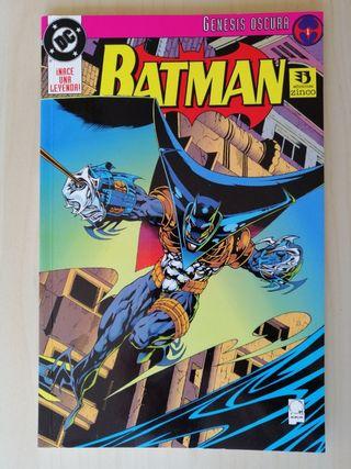 Batman comics. Genesis Oscura. Ediciones Zinco