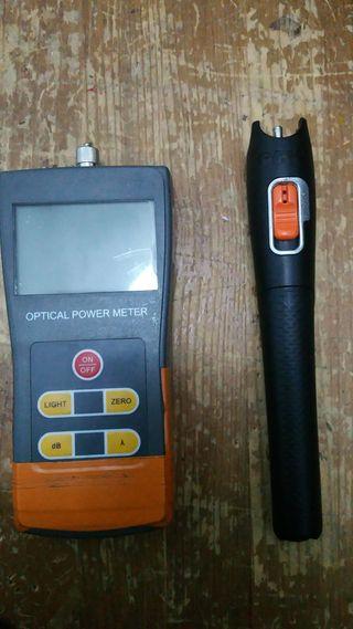 medidor de potencia y laser optico