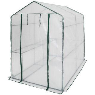 Invernadero de jardín con estante vivero casero