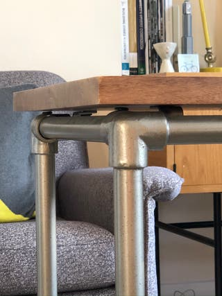 Nearly mint condition West Elm Pipe Side Table