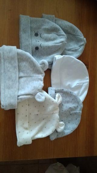 pack gorros recién nacido