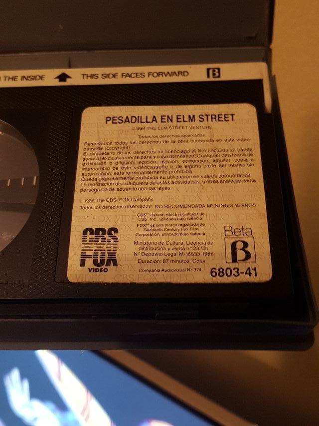Pesadilla en Elm Street BETA 1°edición alquiler
