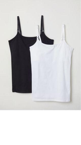 2 camisetas de lactancia de HM - tirantes -