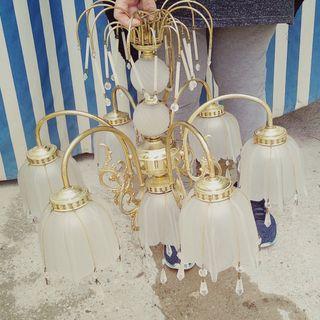 lámpara bronce para él techo