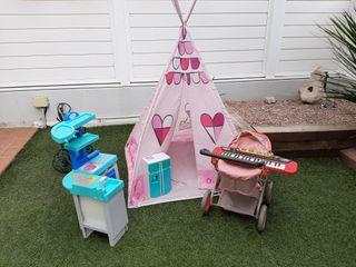 juguetes tienda campaña con pack