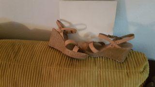 Sandalias piel Zapatos Gloria Ortiz Talla 40