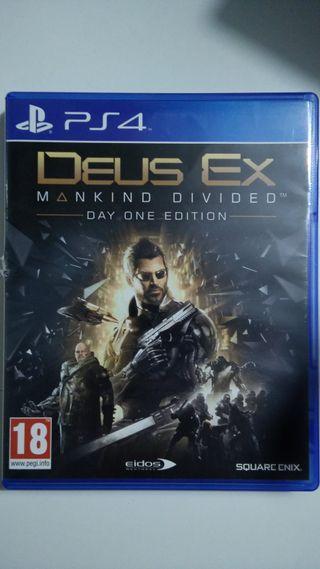 Juego deus ex mankind divided de PS4