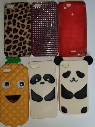 Fundas iPhone 5, (6 unidades). Precio todas 6 €.