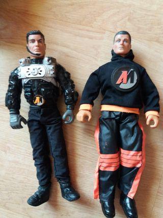2 muñecos Action Man