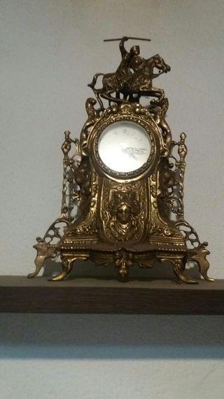 reloj i candelabros a juego vintage bronce