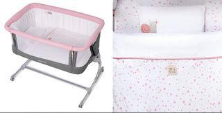 Minicuna de colecho Jane Babyside color rosa