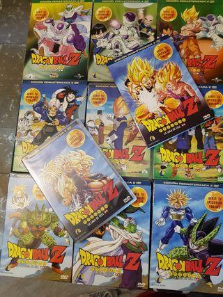 lote de DVDs de dragon ball Z y GT