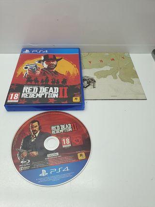 Disco Instalacion PS4 Red Dead Redemption 2 en caj