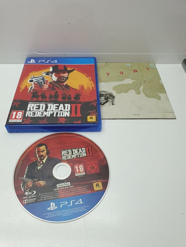 Disco Instalacion PS4 Red Dead Redemption 2 en caj