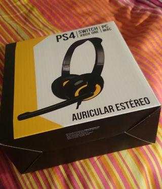 AURICULARES CON MICRÓFONO PS4, XBOX, PC