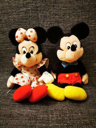 Peluches Mickey y Minnie