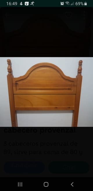 cabecero de madera provenzal