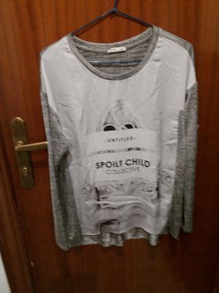 camiseta Zara talla M sirve L nueva