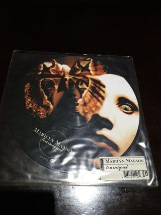 Vinilo Marilyn Manson pintado/impreso original