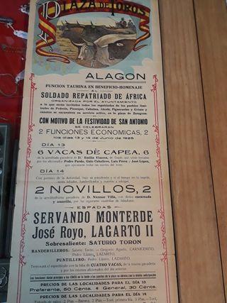 cartel de toros de alagon 1925