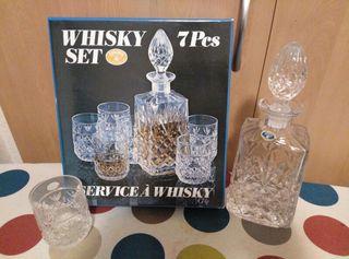 Juego de vasos whisky con jarra a estrenar