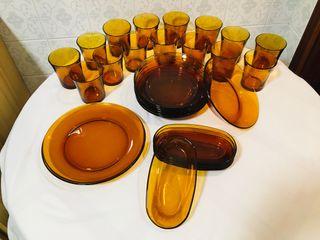 Platos y vasos Duralex
