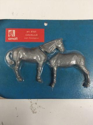 Figura de plomo caballo