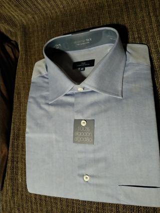 camisa de algodón hombre