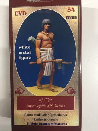 Figura de plomo guerrero egipcio