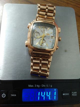Reloj oro rosa macizo 145gr, pulsera Rolex daytona