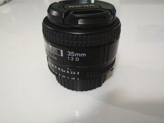 objetivo nikon 35mm 1:2 D