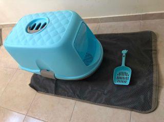 Arenero TRIXIE gatos + alfombra + recogedor