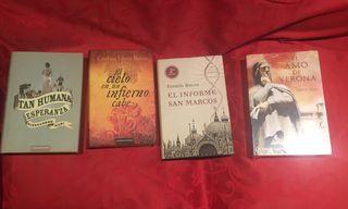 4 libros de novela histórica