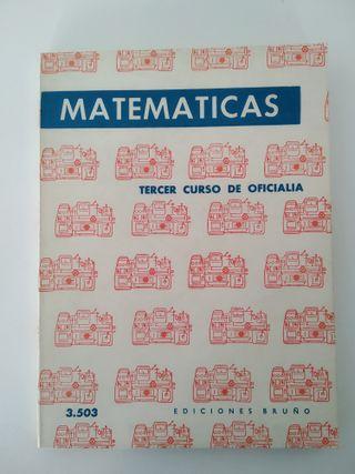 """Libro """"Matemáticas - 1967"""""""