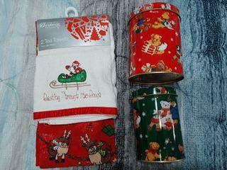 Paños de cocina y botes Navidad
