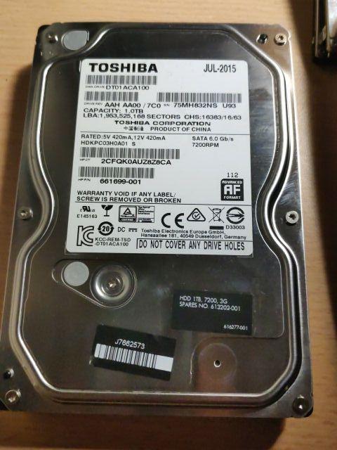 """Disco duro Toshiba SATA 1.0TB 3.5"""""""