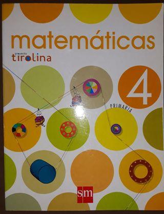 LIBRO TEXTO MATEMÁTICAS 4 PRIMARIA .