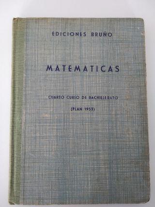 """Libro """"Matemáticas - 1957"""""""