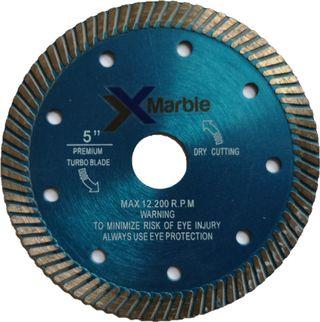 Disco de corte turbo para mármol o granito de 125m