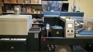 Máquina retractiladora y horno
