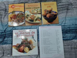 4 Libros de cocina.Regalo fichas de repostería