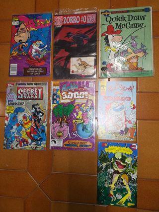 Lote de 7 cómics americanos