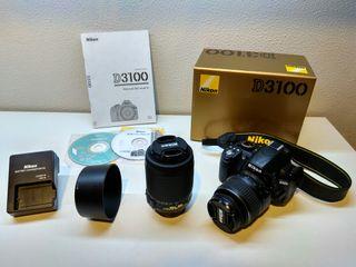 Cámara Réflex Nikon D3100 + 55-200 VR
