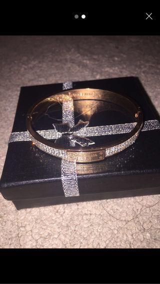 Michael kors bracelet rose gold Swarovski crystals