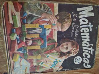 libro texto matemáticas 1961