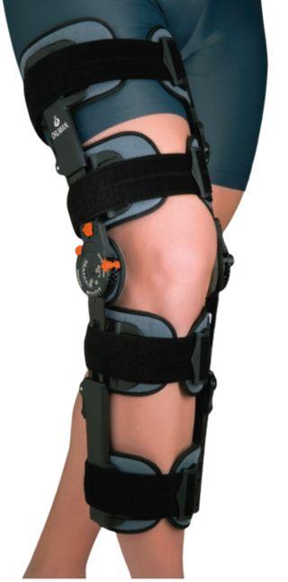 Órtesis de rodilla regulable con bloqueo
